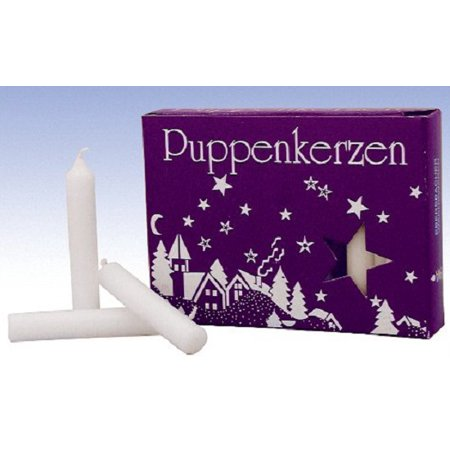 German Candle Carousel - 20 White 10mm diameter German Christmas Candles