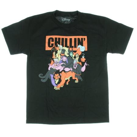 Disney Villains Chillin' Group Shot Men's T-Shirt Ursula Jafar Hook Maleficent