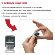 MaxMark Dater 2000 Self Inking Small Date Stamp With Black Ink Image 2 Of