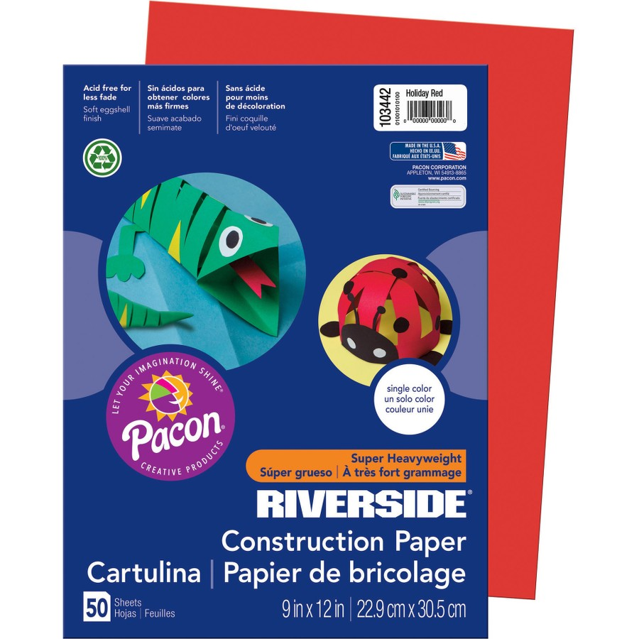 Pacon® Riverside® Construction Paper - Red(pack of 1)