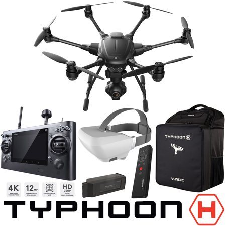 Yuneec Typhoon H RTF Hexacopter Drone Pro FPV Experience Bundle with CGO3+  4K UHD Camera ST16 Controller Wizard Wand SkyView Headset 5400 mAh LiPo
