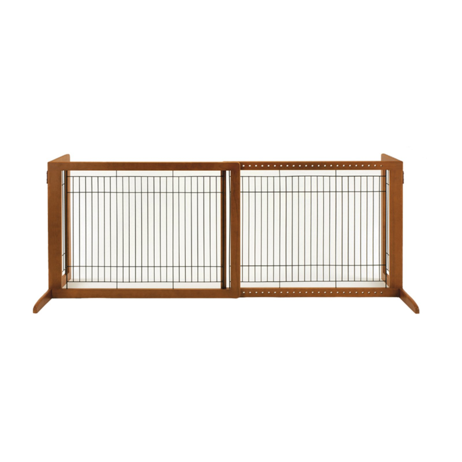 Richell Freestanding HL Pet Gate, Brown