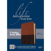 KJV Life Application Study Bible, Second Edition, TuTone (Red Letter, LeatherLike, Brown/Tan, Indexed)