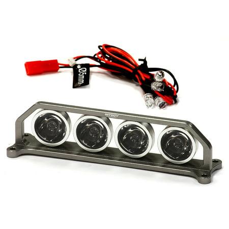 Integy RC Toy Model Hop-ups C24862GUN Billet Machined T4 Realistic Roof Top Spot White LED (4) Light Set