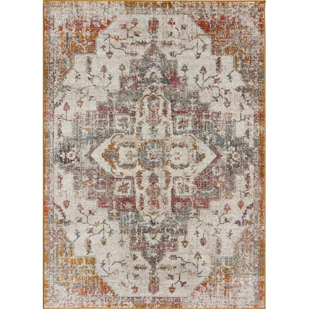 Multicolor Ottoman Terra Antique Area Rug Soft Carpet Mat For