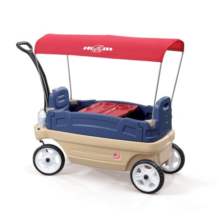 Step2 Whisper Ride Touring Wagon Plastic Canopy Wagon for Kids Wagon Plastic Model