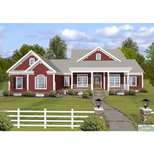 TheHouseDesigners-4208 Ranch House Plan with Crawl Space Foundation (5 Printed Sets)