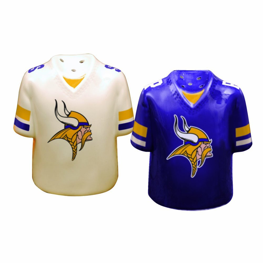 Minnesota Vikings Gameday Salt and Pepper Shaker, Hand Pa...