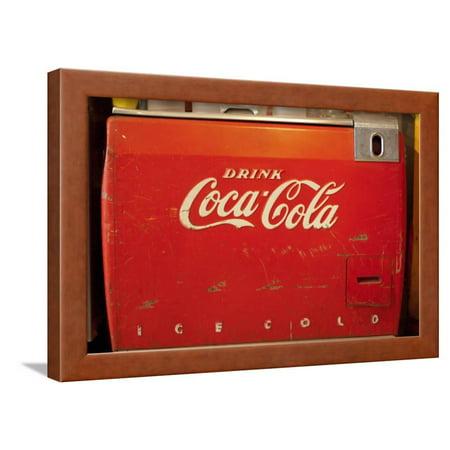 Vintage Drink Coca Cola Ice Cold Coke Vending Machine Photo Poster ...