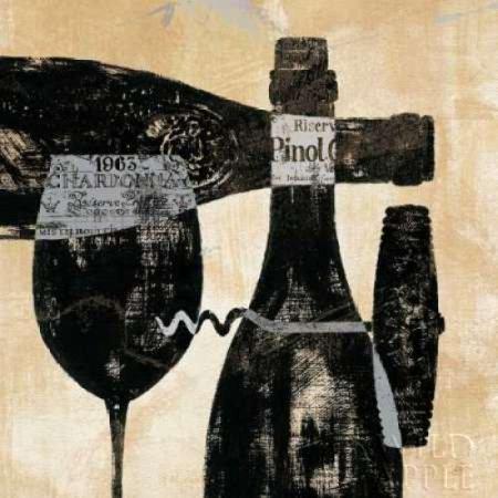 Wine Selection I Canvas Art - Daphne Brissonnet (24 x 24)