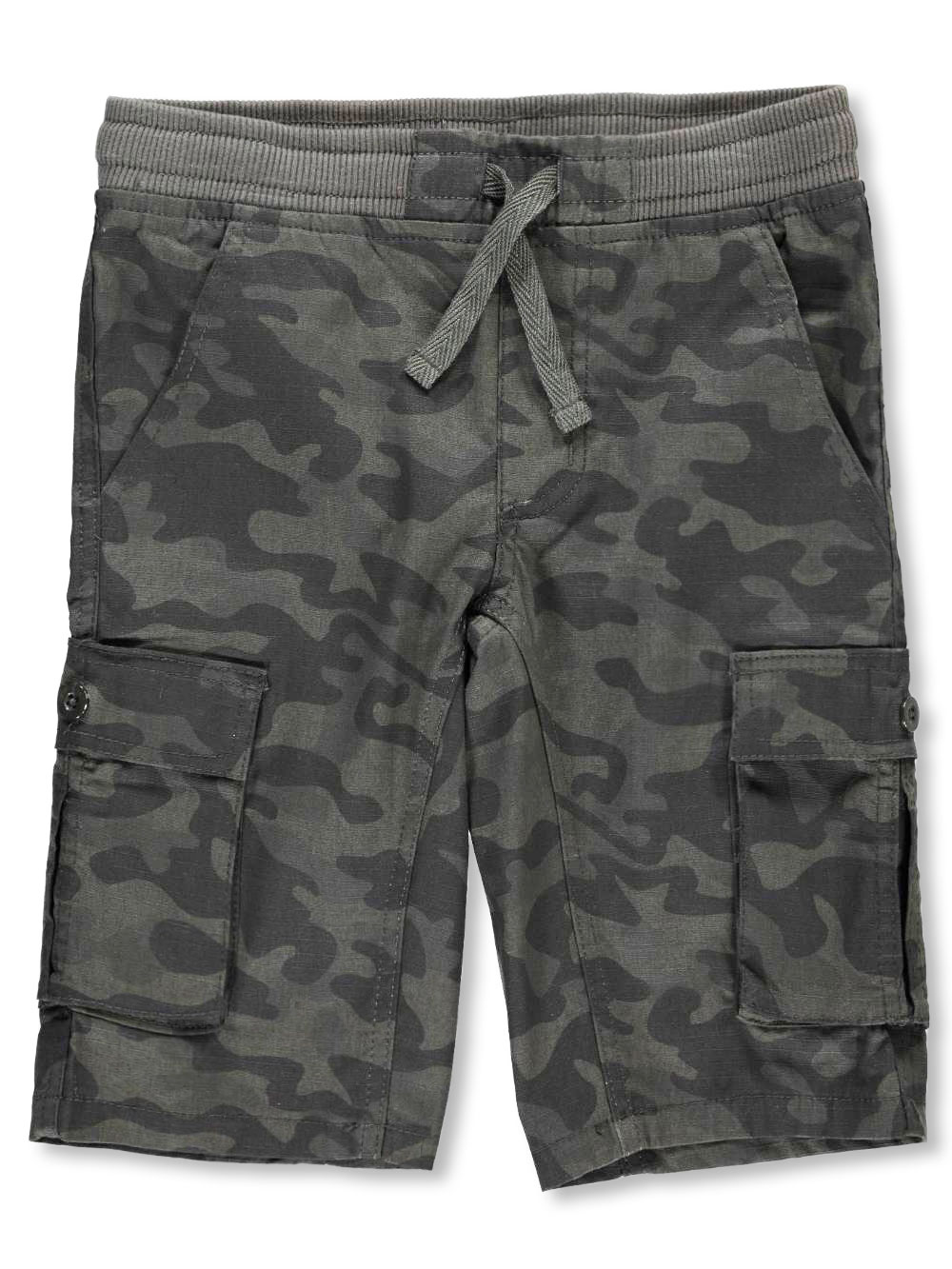 Kids Boys Camouflage Short Pants Drawstring or Stretched Waist Stripy Short Pant