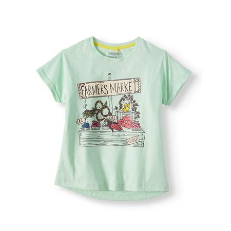Lemonade Foil Boatneck Graphic T-Shirt (Little Girls & Big Girls)