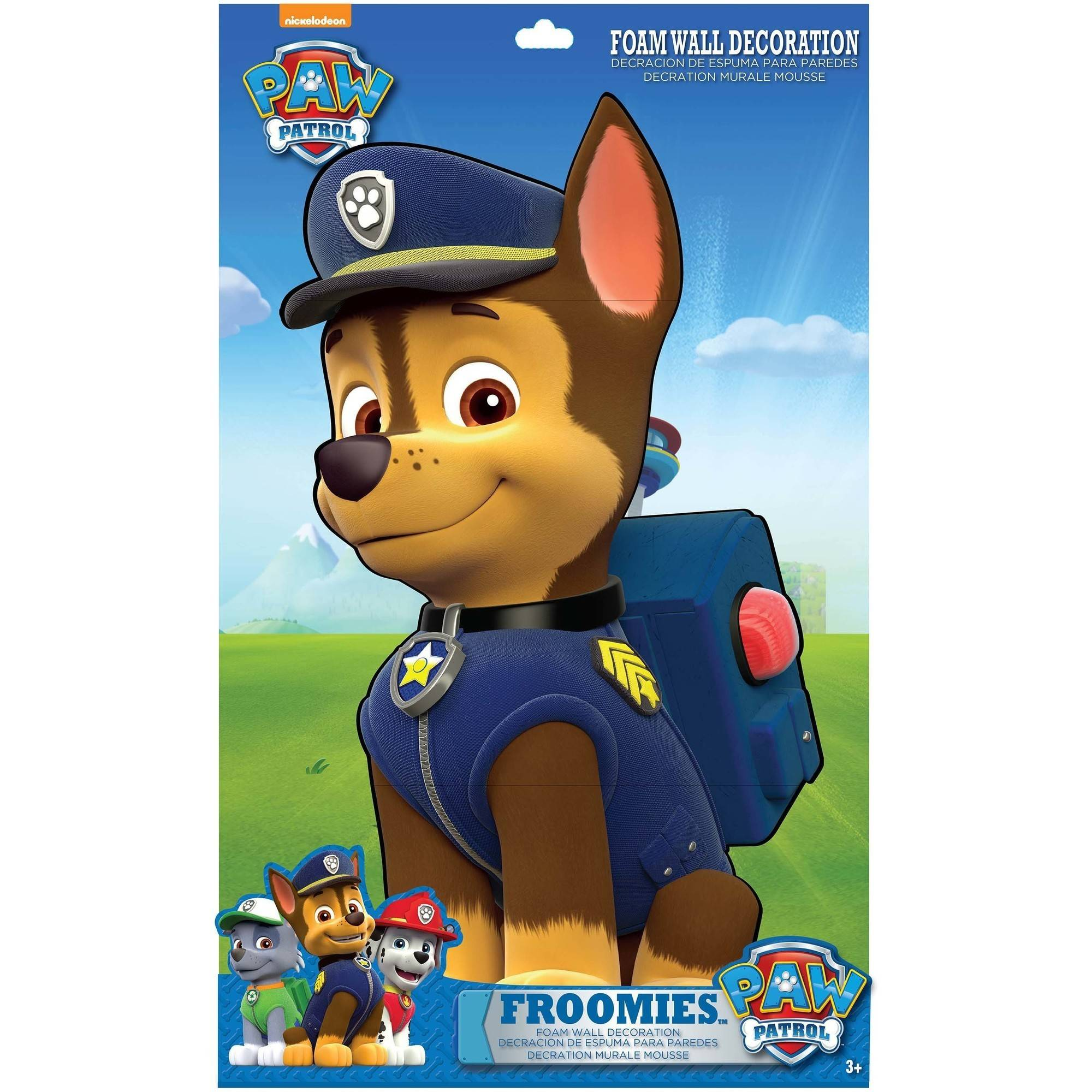 Paw Patrol Chase Froomies Foam Wall Decor