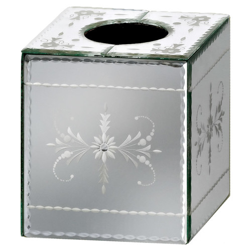 Venetian Gems Hija Mirror Tissue Box