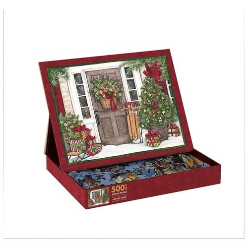 Perfect Timing 500 Piece Holiday Door Puzzle