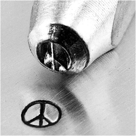 ImpressArt Metal Punch Stamp 'Peace Sign' 3mm (1/8 Inch) Design - 1 Piece Stamp Metal Sign