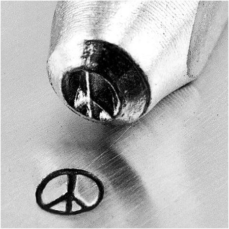 ImpressArt Metal Punch Stamp 'Peace Sign' 3mm (1/8 Inch) Design - 1
