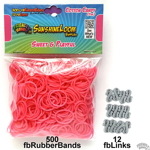 Friendly Bands Sunshine Bands Pack, Pink Cotton Candy