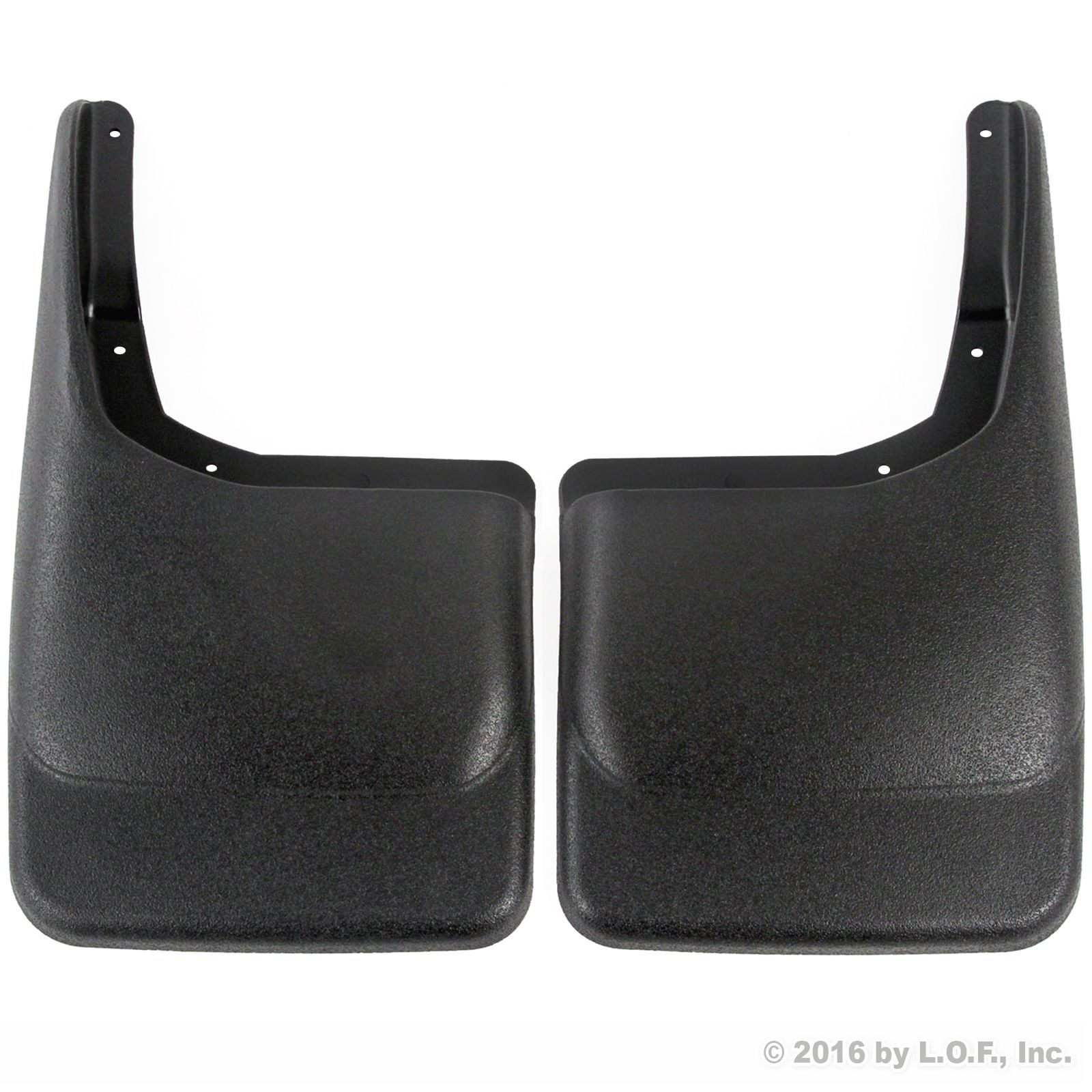 2004-2014 Ford F150 Mud Flaps Guards Splash Rear Molded 2pc Set (Without Fender Flares) by Red Hound Auto