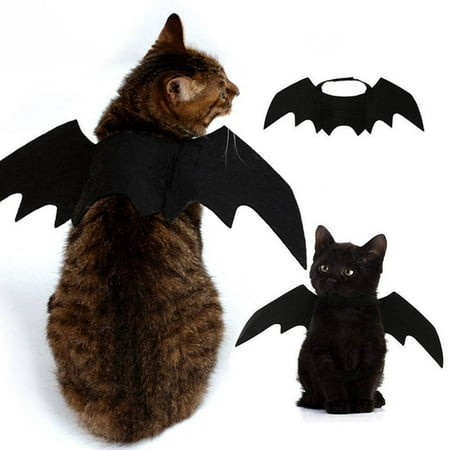 Halloween Clipart Dogs (Bat Wings Vampire Black Cute Fancy Dress Up Pet Dog Cat Halloween Costume)