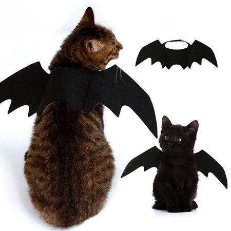 Bat Wings Vampire Black Cute Fancy Dress Up Pet Dog Cat Halloween Costume Gift - Black Dog Costumes