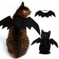 Bat Wings Vampire Black Cute Fancy Dress Up Pet Dog Cat Halloween Costume Gift