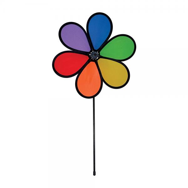 In the Breeze 12 Inch Rainbow Dazy Flower Colorful Wind Spinner for your Yard and Garden by