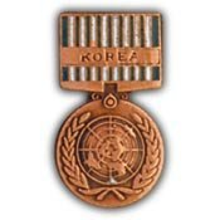 United States Armed Forces Mini Award Medal Pin - UN United Nations Service (Korea) (Armed Forces Service Medal)