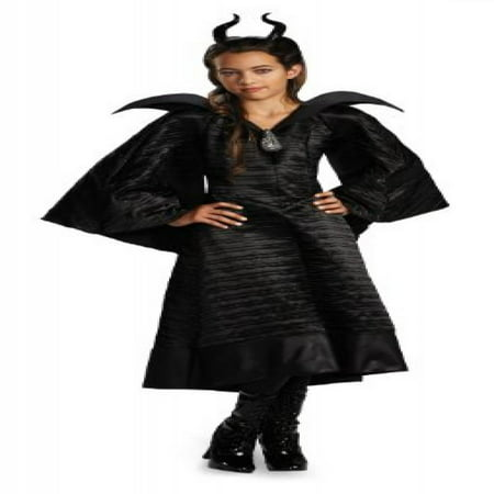 Maleficent Movie Costumes (Disguise Disney Maleficent Movie Christening Black Gown Girls Deluxe Costume,)