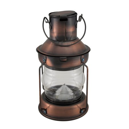 Rustic Battery Operated Antique Copper Finish Metal Lantern - image 4 of 5