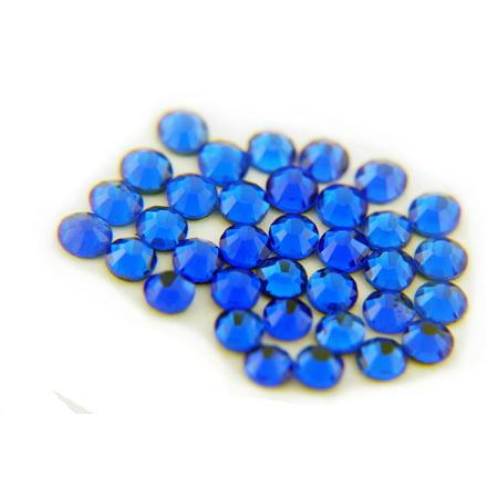 Threadart Machine Cut Hot Fix Rhinestones SS10 (3mm) Cobalt 10 Gross (1440 stones/pkg) Hotfix Rhinestones - 25 Colors and 5 sizes available Hot Fix Diamond Leaf Crystal