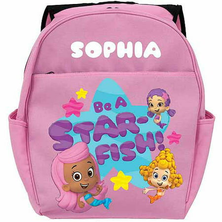 Personalized Bubble Guppies Guppy Girls Toddlers Pink Backpack