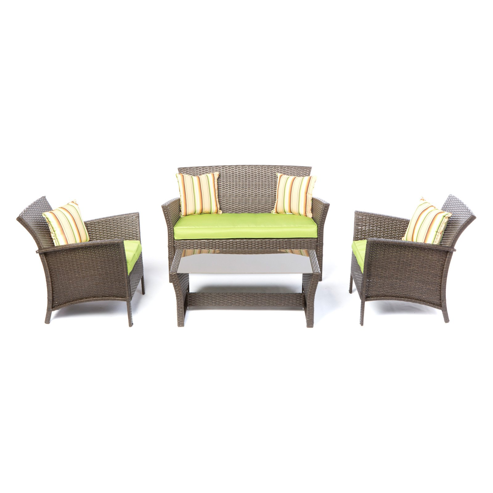 Alfresco Bimini 4 Piece All Weather Wicker Conversation Set