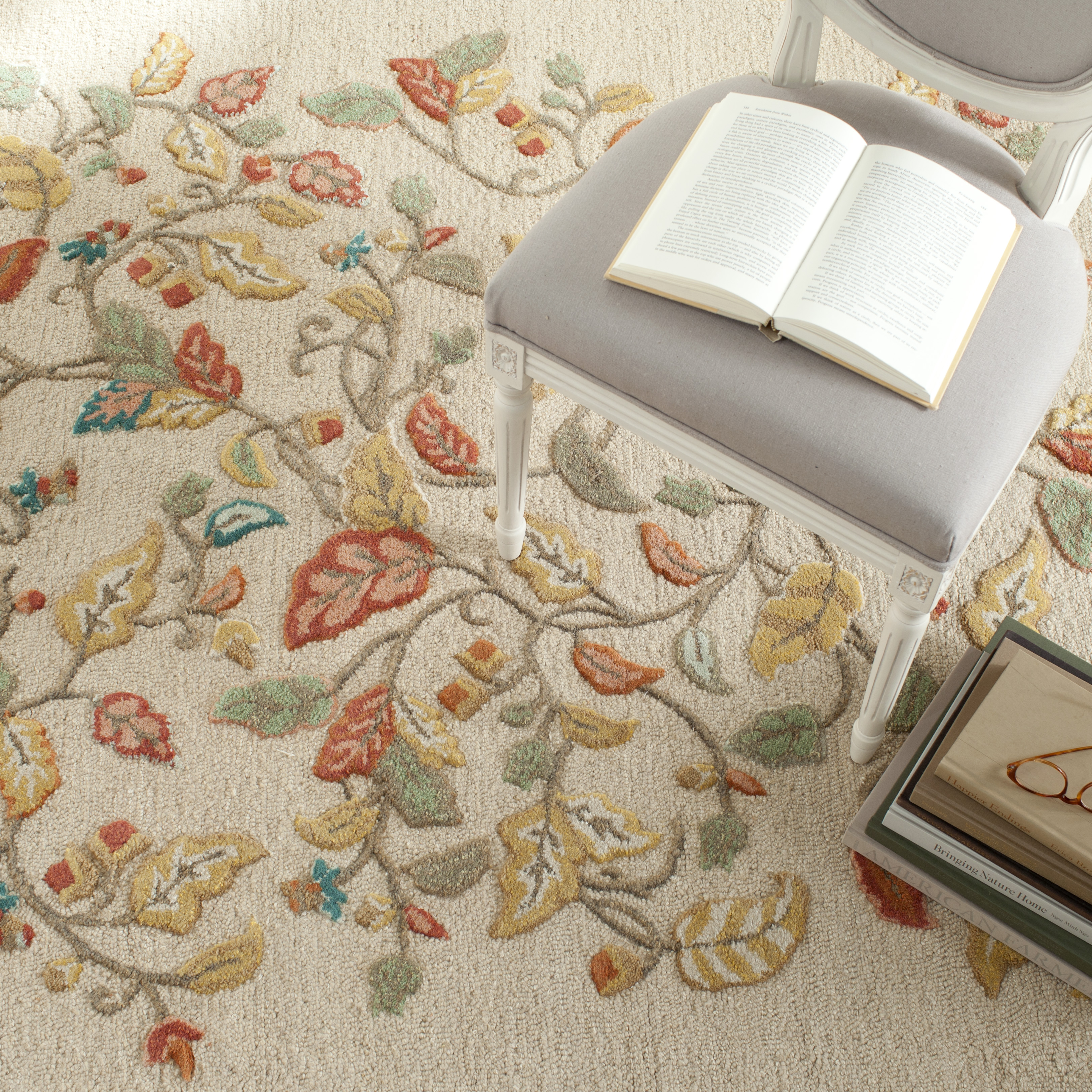 Safavieh Martha Stewart Autumn Woods Floral Area Rug or Runner