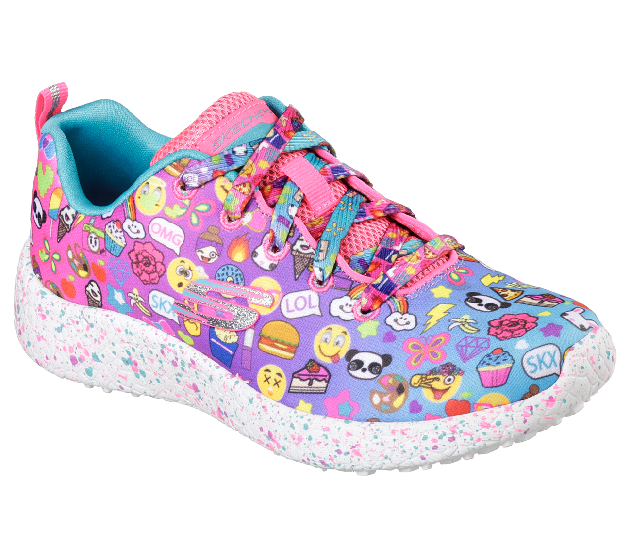 Skechers 81911L MLT Girl's BURST EMOTI-CUTIE Sneaker by Skechers