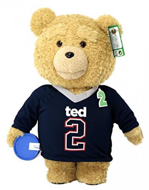 "Ted 2 Movie-Size Plush Talking Teddy Bear Explicit Doll in Jersey, 24"" by Commonwealth Toys"
