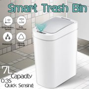 [ 0.3S Quick Sensing ] 7L/1.85Gal Electronic Smart Motion Sensor Automatic Induction Dustbin Waste Bin Trash Cans for Household Hotel Kitchen Bathroom