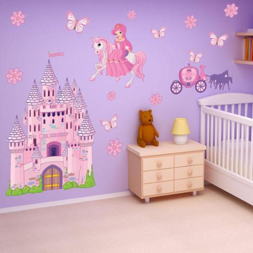 Style and Apply Princess Castle Theme Vinyl Wall Decal Set
