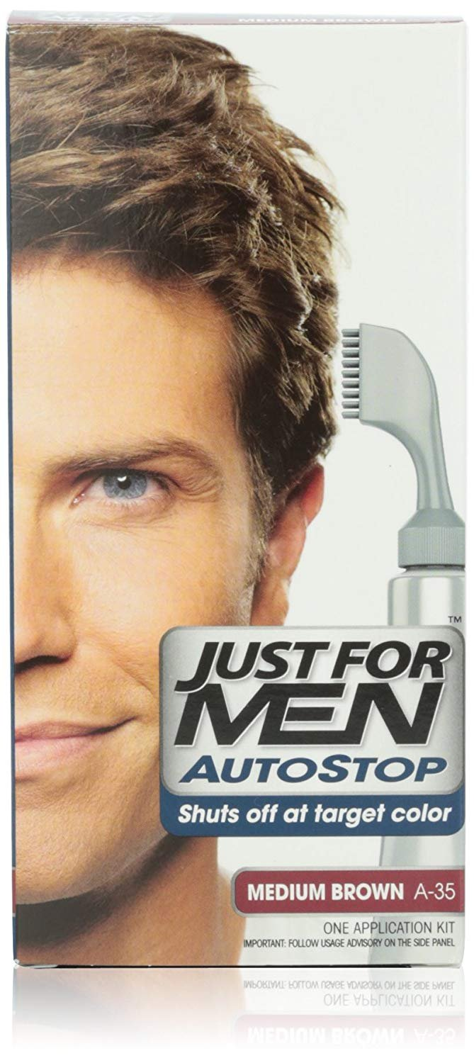 JUST FOR MEN Autostop Hair Color, Medium Brown