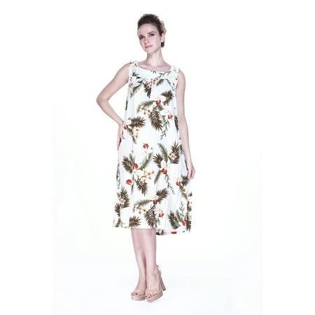 Melani Dress Maxi Dress Long Tunic Dress Hawaiian Dress Plus Size in Orchid  Cream