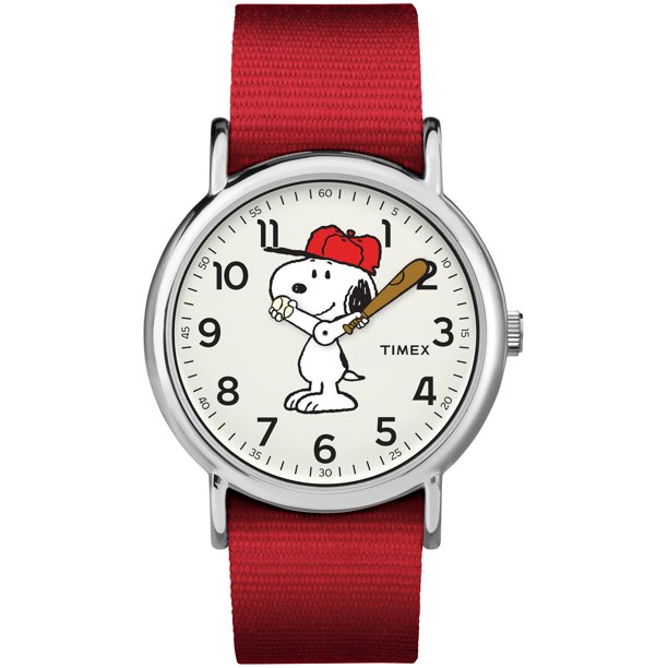 Weekender Peanuts: Snoopy Watch, Nylon Slip-Thru Strap