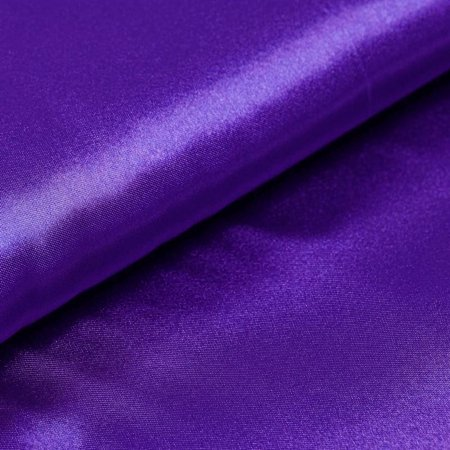 Wedding Party Bridal Dress Decor Satin Fabric Bolt - PURPLE - 54