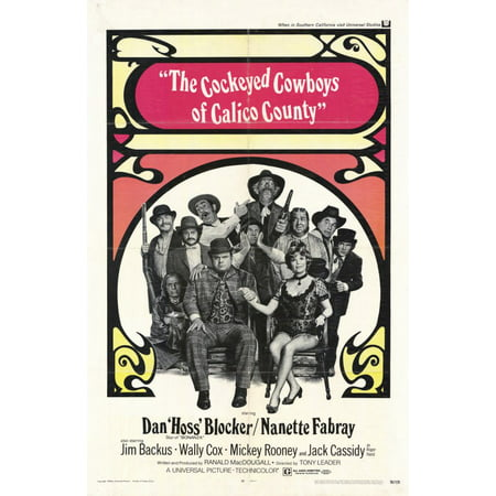Cockeyed Cowboys of Calico County (1970) 11x17 Movie Poster