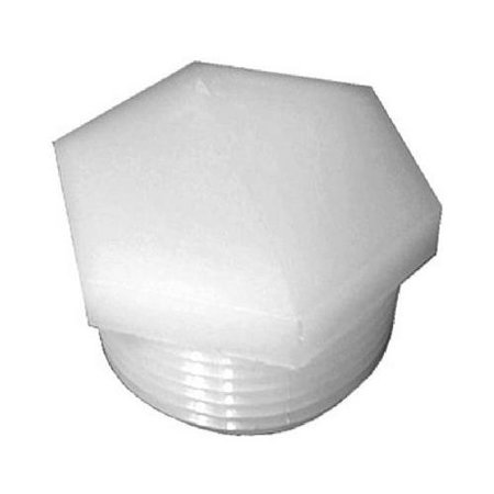 Anderson Metals 53621-08 Pipe Fitting, Nylon Hex Head Pipe Plug, 1/2-In. MPT - Quantity 5