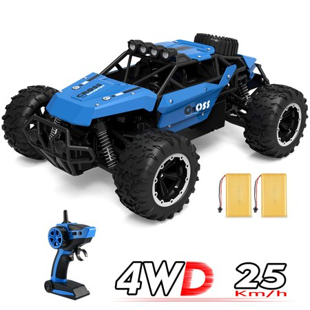 Remote Control Trucks Monster RC Car,  1: 16 Scale Off Road Vehicle 2.4Ghz Radio Remote Control Car 4WD High Speed Racing All Terrain Climbing Car Gift for