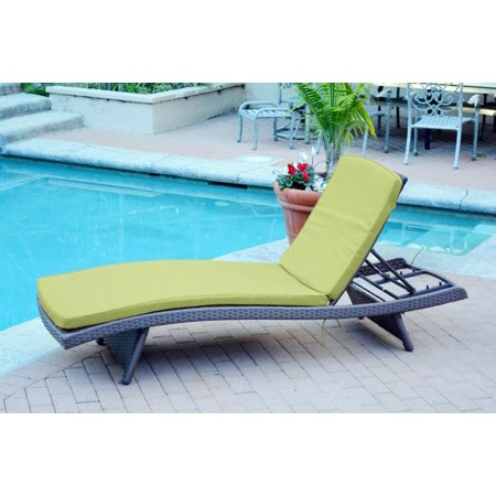 Cc Outdoor Living Wicker Patio Chaise Lounge Chairs Green Cushions