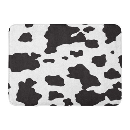 GODPOK Animal Black Skin Cow and Dalmatian Dog Spot White Abstract Camouflage Rug Doormat Bath Mat 23.6x15.7 inch