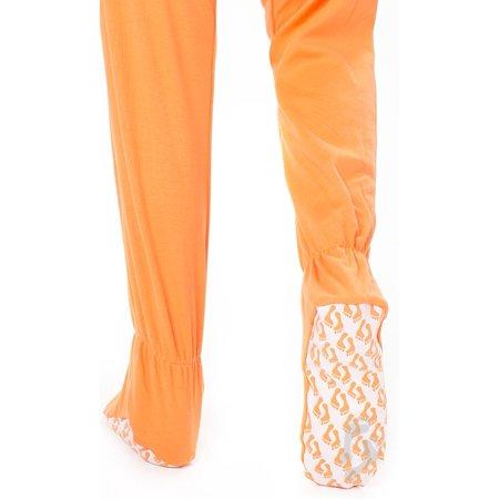 Footed Pajamas - Goldfish Orange Adult Cotton - Medium - Walmart.com