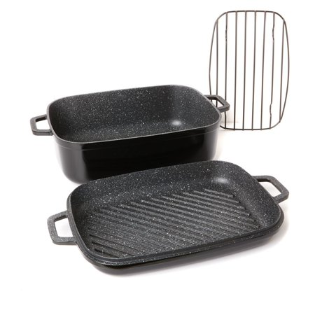 Curtis Stone Dura-Pan Nonstick 8.5 qt. Roaster with 3.5 qt. Grill Lid Model 628-188
