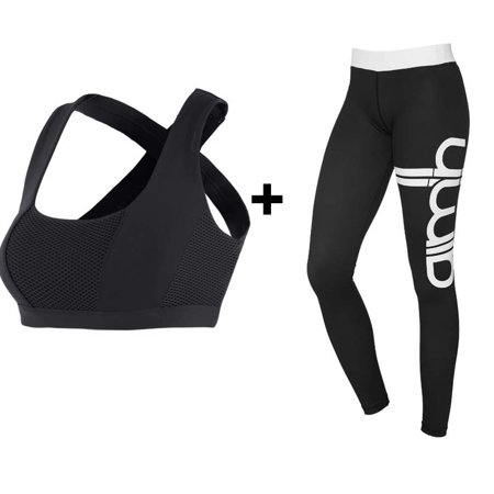 Women Quality Workout Pant Push Up Leggings With Sexy Bra   Sports Running Yoga Suit Fitness Sets Gym Clothes